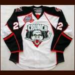 "2009-10 Dylan Reese Syracuse Crunch Game Worn Jersey - ""Mirabito Outdoor Classic"" - Outdoor Classic LOA"