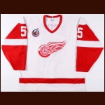 1992-93 Nicklas Lidstrom Detroit Red Wings Game Worn Jersey – Special Olympics Letter