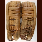 Late 1960's/Early 1970's Cesare Maniago Minnesota North Stars Brown Kenesky Game Worn Pads – Letter of Provenance