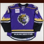2007-08 Brady Murray Manchester Monarchs Game Worn Jersey – AHL Letter