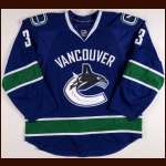 2009-10 Kevin Bieksa Vancouver Canucks Game Worn Jersey - Team Letter