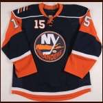 2008-09 Jeff Tambellini New York Islanders Game Worn Jersey - Team Letter