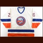 1989-90 Pat Flatley New York Islanders Game Worn Jersey – Photo Match – The Terrence Murphy Collection – Joe Murphy Letter