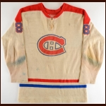 1962-63 Bill Hicke Montreal Canadiens Wool Game Worn Jersey - Rare One Year Style