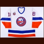 1992-93 Marty McInnis New York Islanders Game Worn Jersey - Photo Match