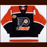 Joe Watson Philadelphia Flyers Alumni/Old-Timers Worn Jersey