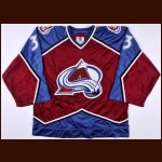 1997-98 Patrick Roy Colorado Avalanche Game Worn Jersey – Team Letter