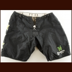 Late 1980's Link Gaetz Minnesota North Stars Black CCM Game Worn Pants