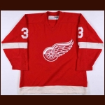 Mid 1980's Larry Trader Adirondack Red Wings Game Worn Jersey