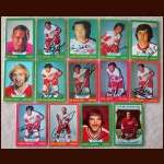 1973-74 Autographed Detroit Red Wings Card Group of 14