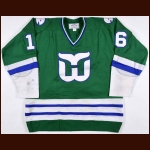 1980-81 Michel Galarneau Hartford Whalers Game Worn Jersey – Rookie - The New England Collection