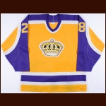1987-88 Steve Duchesne Los Angeles Kings Game Worn Jersey - 2nd NHL Season - Photo Match