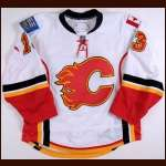 2008-09 Mike Cammalleri Calgary Flames Game Worn Jersey - Photo Match - Team Letter