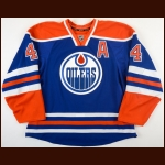2015-16 Taylor Hall Edmonton Oilers Game Worn Jersey - All Star Season - Photo Match – Team Letter