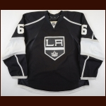 2010-11 Jake Muzzin Los Angeles Kings Game Worn Jersey – Alternate - Rookie - Debut Home Game - Photo Match – Team Letter