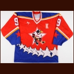 2000-01 Nikolai Pronin Russian Penguins Central Red Army Game Worn Jersey