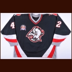 "1998-99 Richard Smehlik Buffalo Sabres Stanley Cup Finals Game Worn Jersey – ""1999 Stanley Cup Finals"" - Photo Match"