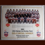 1980 Olympic Hockey Team Advertising Poster
