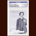 Lloyd Turner Autographed Card - The Broderick Collection - Deceased