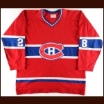 1978-79 Pierre Larouche Montreal Canadiens Game Worn Jerey – Stanley Cup Season - Photo Match