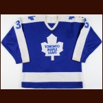 "1984-85 & 1986-87 Al Iafrate Toronto Maple Leafs Game Worn Jersey – Rookie –""King Clancy"""