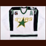 "1991-92 Neal Broten Minnesota North Stars Game Worn Jersey – ""25-year Anniversary"" - Miracle On Ice Alum - The St. Paul, Minnesota Collection"