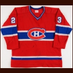 1977-78 Bob Gainey Montreal Canadiens Game Worn Jersey - Stanley Cup Season - Inaugural Frank J. Selke Trophy - Photo Match