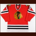 1984-85 Ken Yaremchuk & 1986-87 Mark LaVarre Chicago Blackhawks Game Worn Jersey
