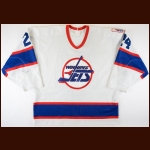 "1995-96 Darryl Shannon Winnipeg Jets Game Worn Jersey - ""A Season To Remember"" – Jets Final Season - Photo Match - The Darryl Shannon Collection – Darryl Shannon Letter"