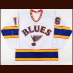 1986-87 Jocelyn Lemieux St. Louis Blues Game Worn Jersey – Rookie - Photo Match
