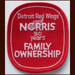 Detroit Red Wings Norris Family Ownership 50 Years Patch