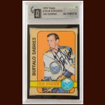 1972-73 Topps Steve Atkinson Buffalo Sabres Autographed Card – Deceased