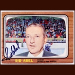 1966-67 Sid Abel Detroit Red Wings Autographed Card - Deceased