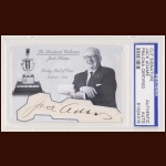 Jack Adams Autographed Card - The Broderick Collection - Deceased