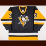1989-90 Jim Kyte Pittsburgh Penguins Game Worn Jersey - Photo Match