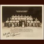 1980 New York Islanders Stanley Cup Champions 8x10 B&W Team Photo – Autographed by Al Arbour – Deceased