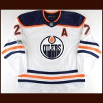 2017-18 Milan Lucic Edmonton Oilers Game Worn Jersey - Battle of Alberta - Photo Match – Team Letter