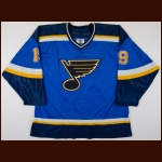 1998-99 Chris McAlpine St. Louis Blues Game Worn Jersey – Team Letter