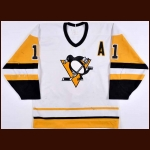 1988-89 John Cullen Pittsburgh Penguins Game Worn Jersey – Rookie