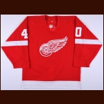 2005-06 Henrik Zetterberg Detroit Red Wings Game Worn Jersey - Photo Match - Team Letter