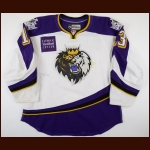 2012-13 Rich Clune Manchester Monarchs Game Worn Jersey – Team Letter
