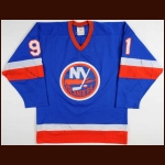 1981-82 Butch Goring New York Islanders Game Worn Jersey - Stanley Cup Season – Photo Match