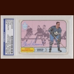 Marcel Pronovost 1968 Topps - Toronto Maple Leafs - Autographed - Deceased - PSA/DNA