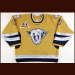 "2002-03 Clarke Wilm Nashville Predators Game Worn Jersey – ""5-year Anniversary"" – Alternate - Photo Match – Team Letter"