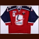 "2008-09 Jacob Lalonde Windsor Spitfires Game Worn Jersey - ""2009 IIHF Canada"" – ""C-18"" – ""Salute The Barn 1924-2008"""