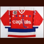 1990-92 Peter Bondra Washington Capitals Game Worn Jersey – Rookie