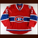 "2008-09 Chad Anderson Montreal Canadiens Game Issued Jersey – ""100-year Anniversary"" – ""2009 Montreal NHL All Star"" – Team Letter"
