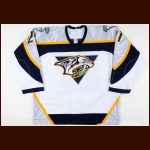 2006-07 Peter Forsberg Nashville Predators Game Worn Jersey – Photo Match – Team Letter