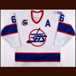 1991-92 Phil Housley Winnipeg Jets Game Worn Jersey - 2nd Team NHL All Star – Phil Housley Letter