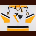 2001 Robert Lang Pittsburgh Penguins Game Worn Jersey